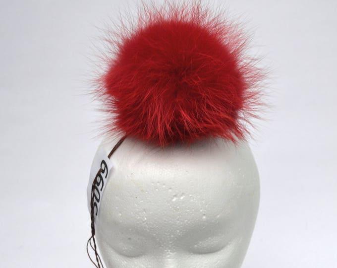 """6"""" FOX FUR POMPOM! Red Pom-Pom, Fox Pom Pom, Real Fur Pom Pom, Genuine Fur, Pom Pom for Winter Hat, Pom Pom for Women Hat, for Knitted hat"""
