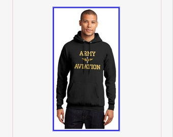 Hooded Sweatshirt Army Aviation - Made to Order