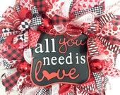 Valentines Wreath, Valent...