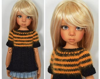 """Sweater for Kaye Wiggs 17"""" and 18"""" MSD BJD by Maggie & Kate Create"""