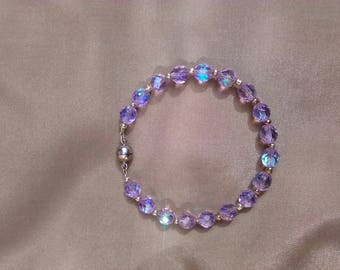 Crystal Lilac AB bracelet