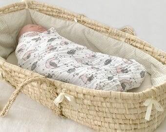 Baby muslin blanket, pink muslin blanket, baby gauze swaddle, baby gauze blanket, baby muslin swaddle, pink baby gift, pink baby swaddle