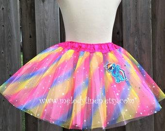 Rainbow Dash tutu my little pony tutu Rainbow Dash outfit Rain bow dash costume party favor my little pony patch rainbow dash patch