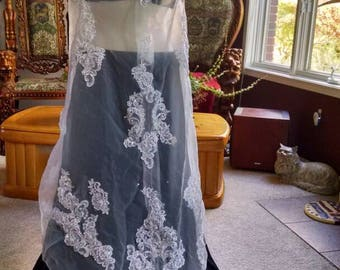 Sheer lace vest duster