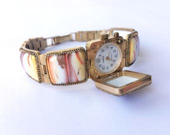 "Womens watches, Gold vintage watch. Soviet watch, Women's retro watch, Vintage watch, Russian watch, ""Chaika"" 17 jewels, Mechanical watch"