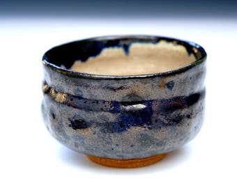 Tea cup - Handmade Ceramic Tea cup black glaze and clear glaze