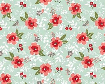 Riley Blake Fabric - Sweet Prairie Main C6540 Mint by Sedef Imer - Calico, Quilt, Quilting, Crafts
