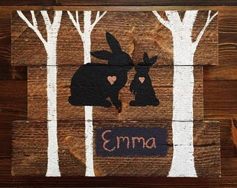 Medium Mama & Baby Bunny