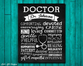 Doctor Gift. Doctor Appreciation. Gift for Doctor. Gift for Pediatrician. Doctor's Office Decor. Doctor Decor. Personalized Doctor Gift.