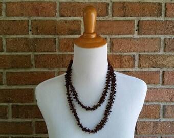 Vintage Hawaiian Koa Seed Necklace