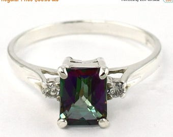 On Sale, 20% Off, Mystic Fire Topaz, 925 Sterling Silver Ring, SR171