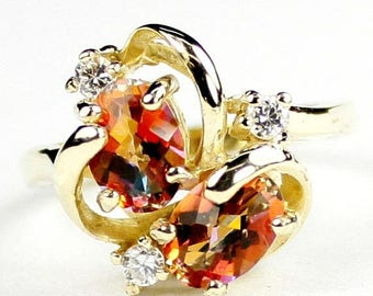 On Sale, 30% Off, Twilight Fire Topaz, 18Ky Gold Ring R016