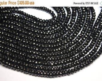 40%OFF Sparkling 5 x 10 Inch 7-8mm Natural Black Spinel Faceted Rondelle Beads Strand-Black Spinel Beads-59 Beads Apx/Strand