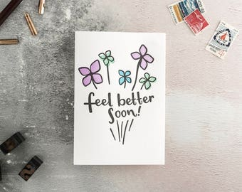 Feel Better Soon Letterpress Get Well Soon Card