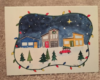 Christmas Notecards - 5 Pack - Holiday Artist Cards