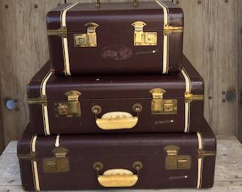 Vintage suitcases luggage sets | Etsy