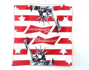 Vintage 80s bandana budweiser beer American flag 90s