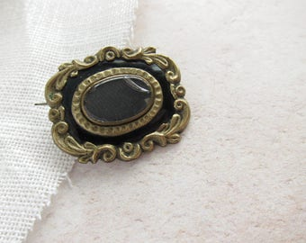 Antique mourning brooch, hair jewellery,Antique brooch,jewellery for restoration,antique jewellery