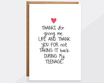 funny mom card, birthday funny mothers day card from daughter, card from kids, blank greeting cards for mom, mom thank you gift idea GC218
