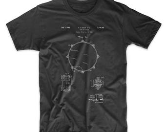 Drum Key Holder Patent T Shirt, Snare Drum, Drummer Gifts, Drum Shirt, Music T Shirt, PP0105