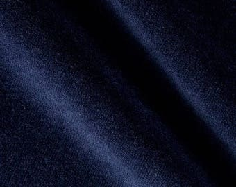 SHIPS SAME DAY Navy Blue Velvet Upholstery Fabric, Solid Navy Velvet Upholstery Fabric, Navy Velvet Home Decor Fabric - by the 1/2 yard
