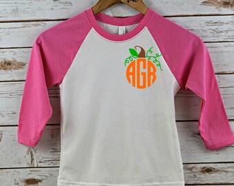 Monogram Halloween shirt, girls shirt, girls halloween shirt, personalized shirt, personalized halloween shirt, personalized, halloween