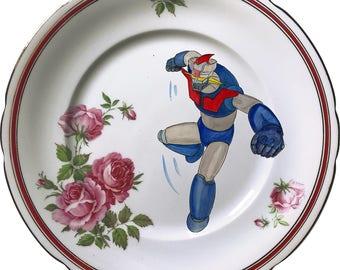 Mazinger Z - Vintage Porcelain Plate - #0577