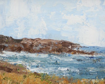 View from the Meadow, Sea Ranch- Palette Knife Oil Painting