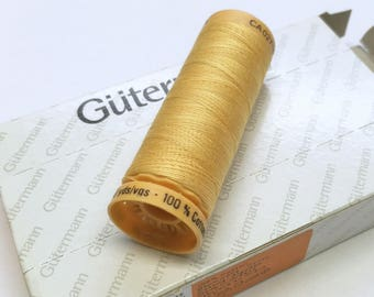 Box Yellow / Gold 758 100m x 5 reel Natural Cotton C Ne 50 Gutermann Creativ Thread Matched to Kaffe Fassett fabrics