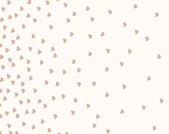 Yes Please - Hearts Cream by My Mind's Eye for Riley Blake, 1/2 yard, SC6551-Cream
