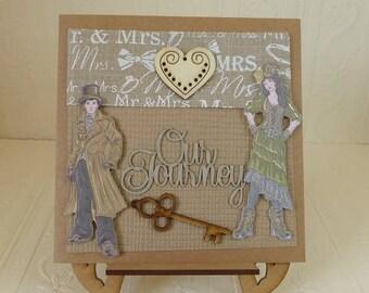 Steampunk Wedding Day Card, Wedding Anniversary Card