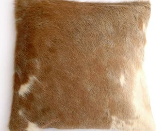 Natural Cowhide Luxurious Hair On Cushion/ Pillow Cover (15''x 15'') A96