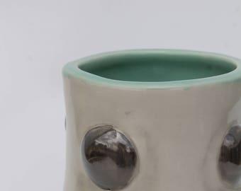 Mint/Chrome Bubble Vase