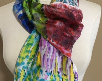 Silk hand dyed Scarf