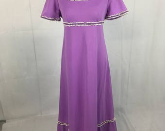 Bright 1970s Purple Dress