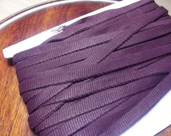 ribbed 25mm color bordeaux sold by set of 4 M thick cotton bias