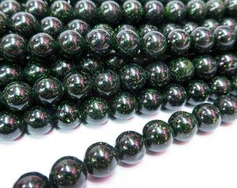 green sandstone beads bling blind round beads green sparkle jewelry beads dark green