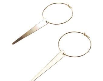 Gold Spike Hoop Earrings; Spike Hoops; Spike Earrings; Spike Jewelry; Statement Hoops; Spike Hoop Earrings; Gold Hoop Earrings