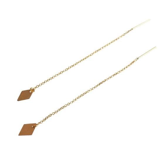 Diamond Threader Earring in 14K Gold Fill Diamond Earrings