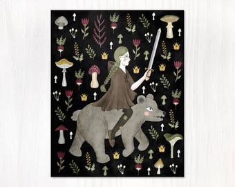turnip warrior postcard