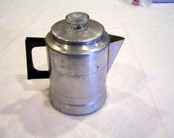 Worthmore Aluminum vintage coffee percolator, made in the USA