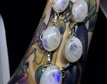 Rainbow moonstone necklace