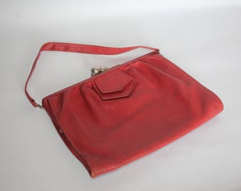 1930's or 1940's Red Leather Bag