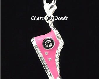 1 charm snap converse sneakers made of metal and enamel charm