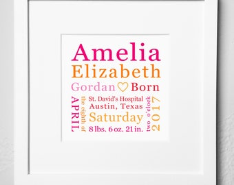 Personalized baptism plaque digital options baptism gift personalized birth keepsake print options baby gift birth announcement plaque birth memento negle Gallery