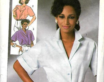"Simplicity 7482     Misses Set of ""Easy to Sew""  Blouses       Size 10,12,14"