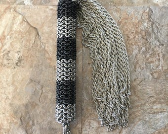 Large Chain Mail Flogger w/ Chain Falls for electrical play (For Consensual Kink Play)