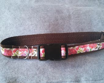 Floral Handmade Dog Collar