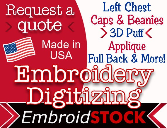 Custom embroidery digitizing get your logo digitized today