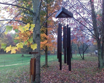 wind chimes of wood